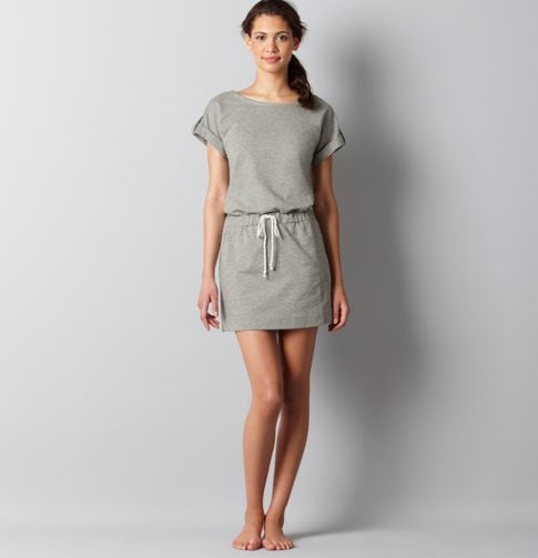 Consider this your Summer alternative to sweatpants, though this will look a whole lot sweeter styled up with your favorite sandals.  Loft French Terry Tie Waist Dress ($50)