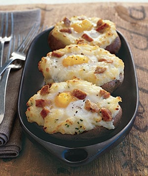 Baked Potato Eggs Recipe