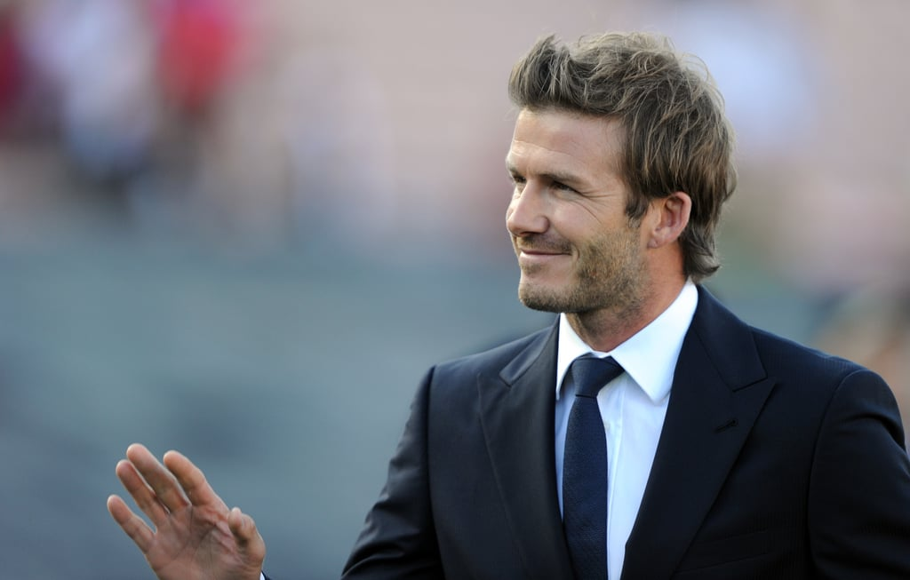 Pictures of Becks and Shirtless Ronaldo