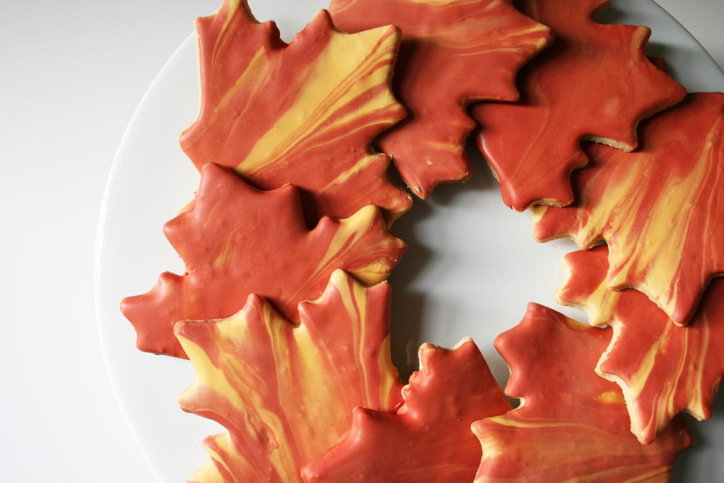 Fall Leaves Iced Cookies