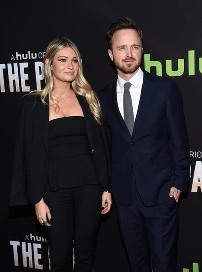 Aaron Paul and wife Lauren Parsekian appear on Ellen and play Pie Face