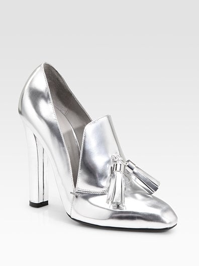 We've been drooling over Alexander Wang's metallic loafers — the perfect blend of sophistication and cool.   Anais Metallic High Heel Loafers ($650)