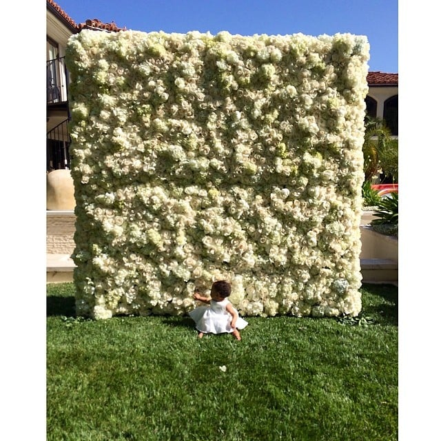 Look at how tiny North looks in front of the structure!  Source: Instagram user kimkardashian