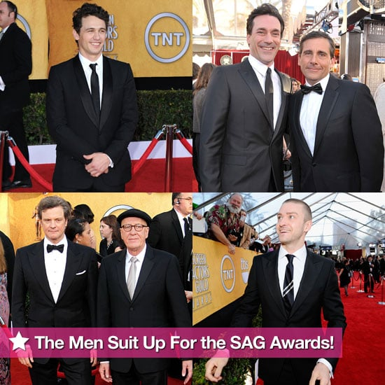 Pictures of James Franco, Jon Hamm, Justin Timberlake, Colin Firth, and More at the 2011 SAG Awards!
