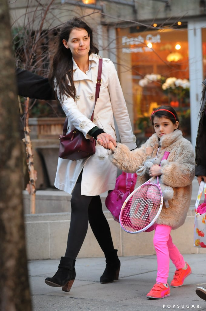 Katie Holmes And Suri Cruise At Tennis Lessons Pictures