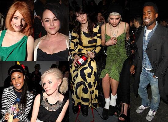 Photos of Kanye West, Nicola Roberts, Jaime Winstone, David Walliams, VV Brown, Little Boots, Pixie Geldof, Daisy Lowe