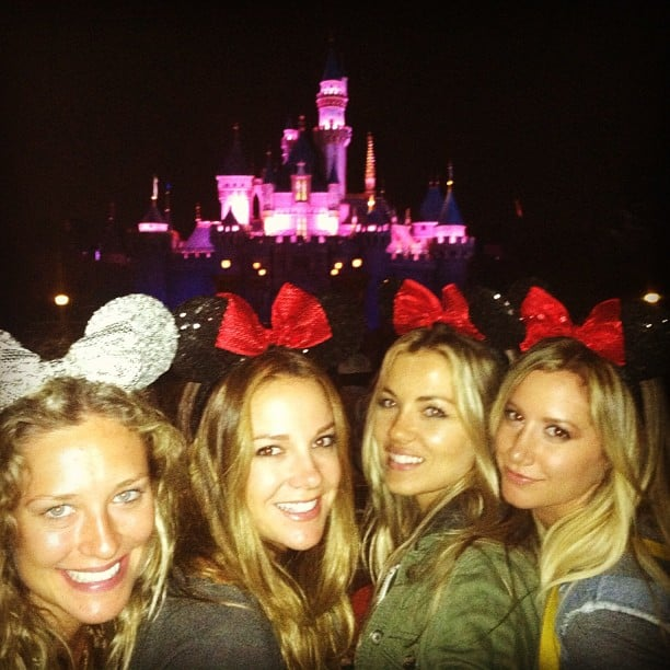 Ashley Tisdale and her friends dressed up for a trip to Disneyland. Source: Instagram user ashleytis