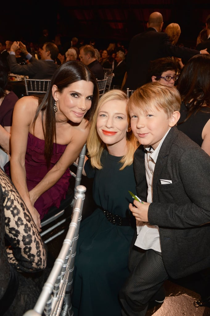 Cate Blanchett and her son Ignatius snapped a photo with Sandra Bullock at the Critics' Choice Awards.