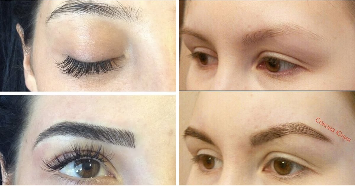 Before And After Microblading Eyebrow Tattoos Popsugar