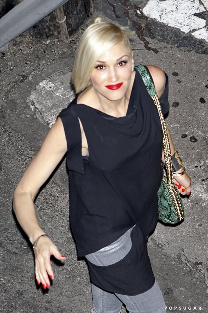 Gwen Stefani went to the Rolling Stones show at LA's Echoplex.