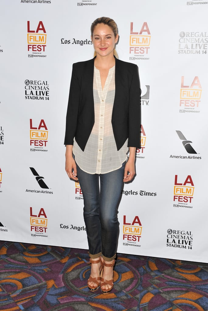 Shailene Woodley attended the premiere of The Spectacular Now.