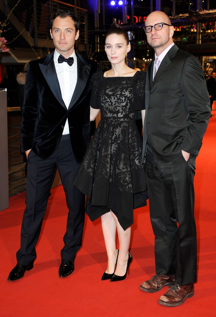 Jude Law, Rooney Mara, and Steven Soderbergh arrived at the Side Effects premiere at the 63rd Berlinale International Film Festival on Tuesday night.
