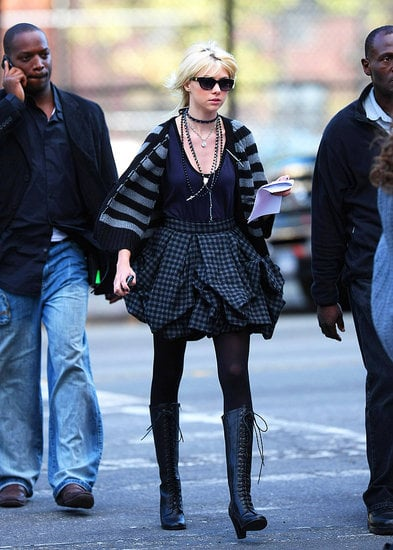 Photos of Taylor Momsen and Blake Lively on the Set of Gossip Girl at Missoni