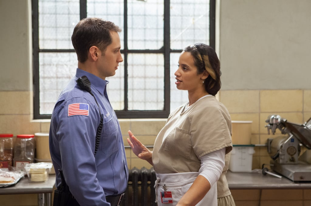 Oh hey, remember when John (Matt McGorry) knocked up Diaz (Dascha Polanco)? Source: Netflix