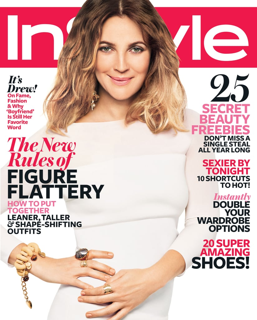 Drew Barrymore on the cover of InStyle.