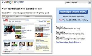 Daily Tech: Oh Joyous Day! Google Chrome For Mac Is Here!