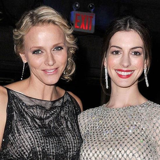 Anne Hathaway Pictures With Princess Charlene, Prince Albert