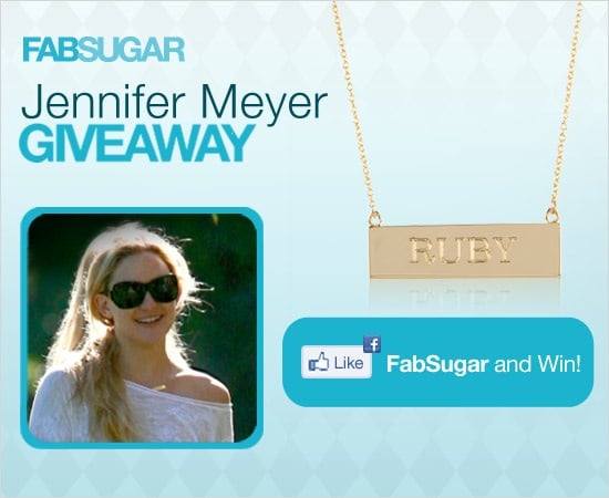 Jennifer Meyer Jewelry Giveaway: Nameplate Necklace