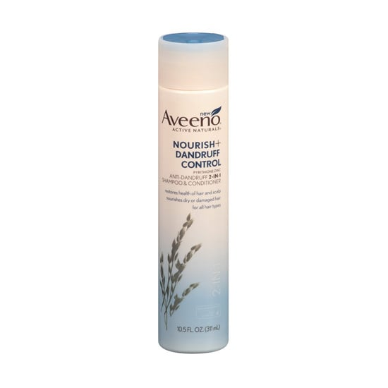 If an itchy scalp and white flakes are your problem, then let Aveeno's soothing Nourish + Dandruff Control Shampoo ($7) be your solution.