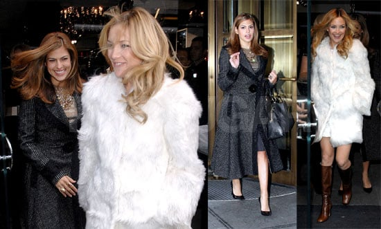 Kate and Eva Brave the Cold for D&G