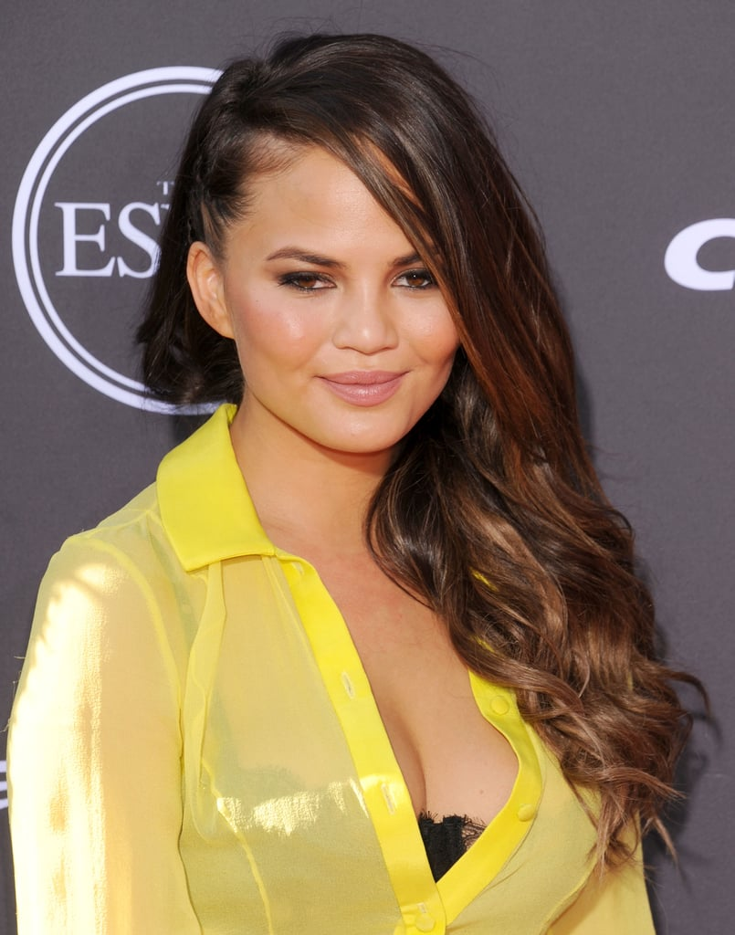 Chrissy Teigen also wore braids to the award ceremony in a side-swept style that featured a faux undercut.