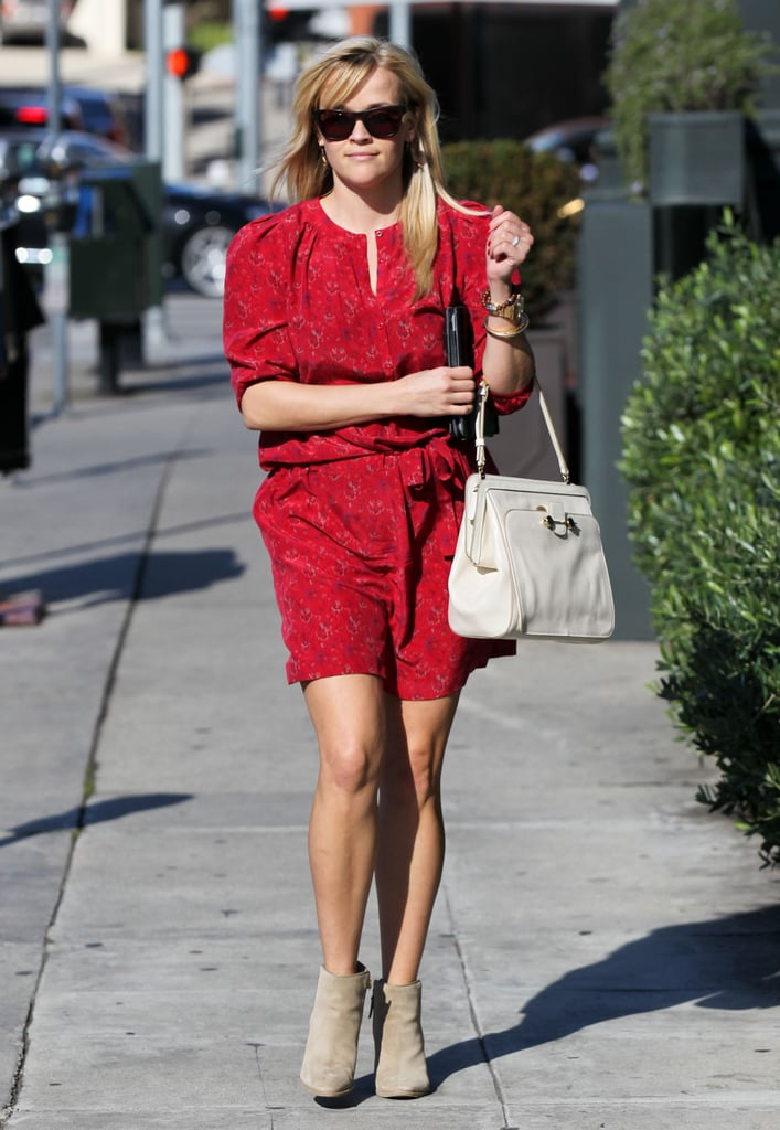 Reese Witherspoon walked down the street in Brentwood.
