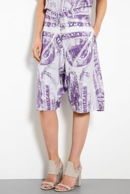 Acne's purple printed long shorts ($380) are the epitome of fashion-forward, with culottes emerging as one of Fall's hottest trends.
