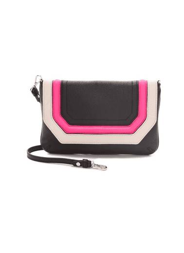 Possibly the easiest way to perk up your style — no matter what you're wearing — is with this colorblocked Milly Zoey Clutch ($163, originally $325) in tow.