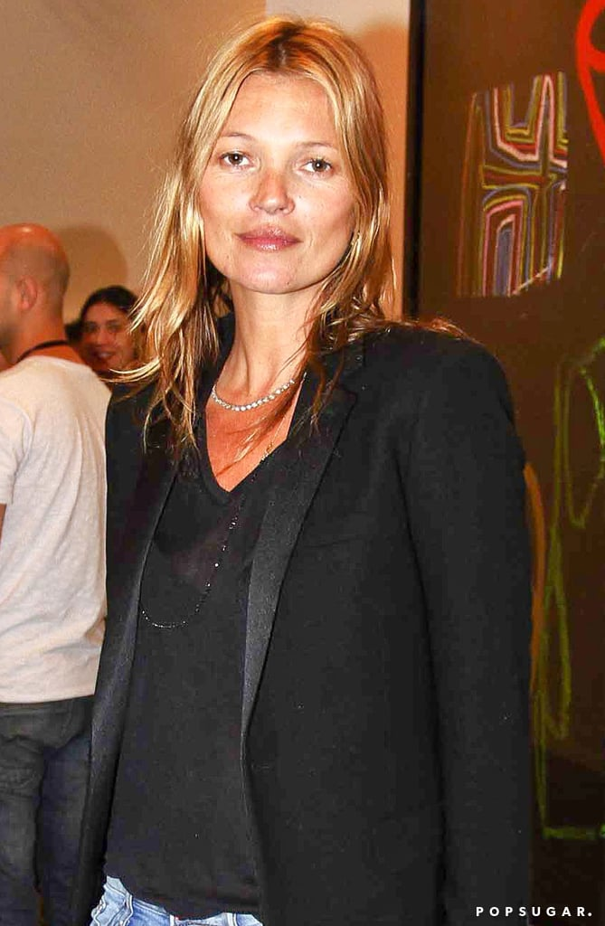 Kate Moss looked flawless without makeup in Brazil.