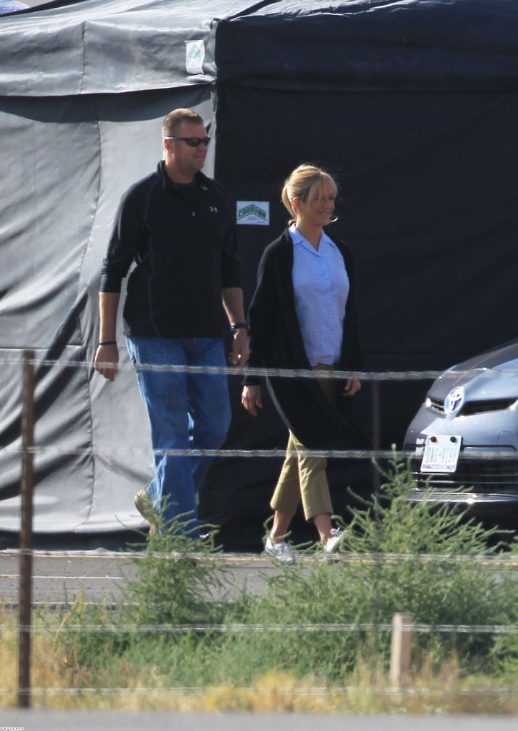 Jennifer Aniston reported to set in New Mexico.