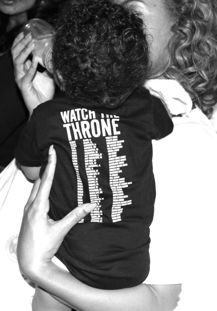 Blue sported a Watch the Throne shirt in December 2012. Source: Tumblr user Beyoncé
