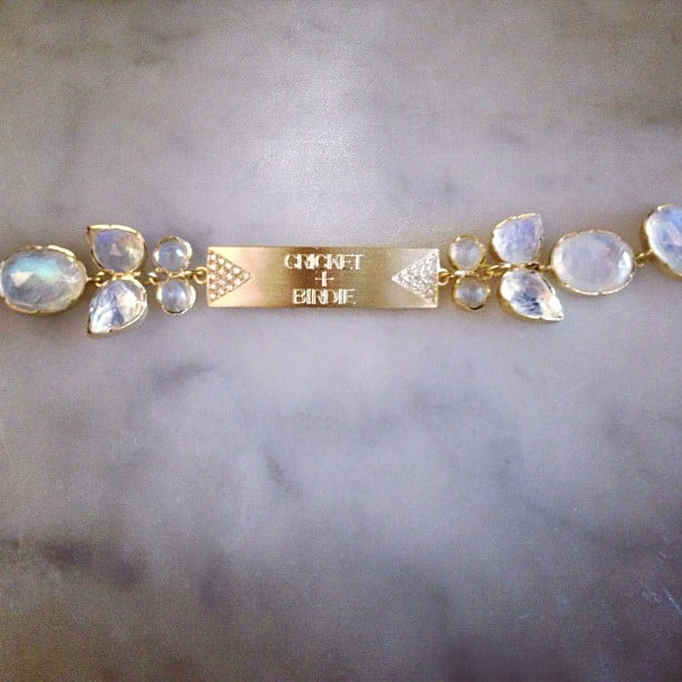 Busy Philipps showed off the latest addition to her jewelry collection — a bracelet with her daughters' names engraved on it. Source: Instagram user busyphilipps