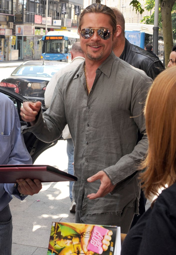 Brad Pitt Pops Up in Spain and Hits a Major Career Milestone