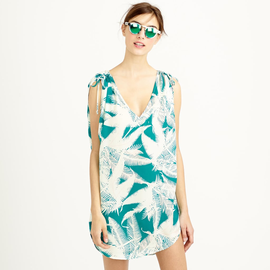 J.Crew Sleeveless beach tunic in tropical fern ($88)