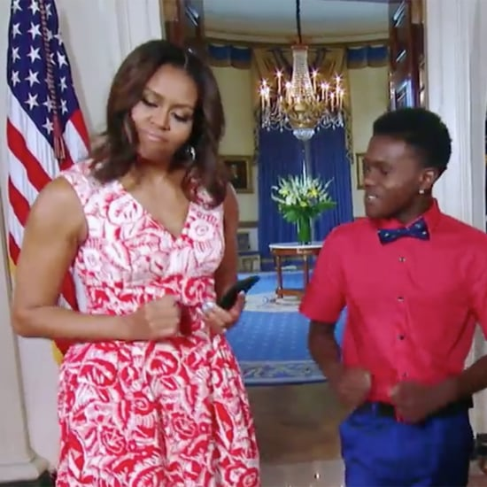 Michelle Obama Learns Snapchat and Running Man Challenge