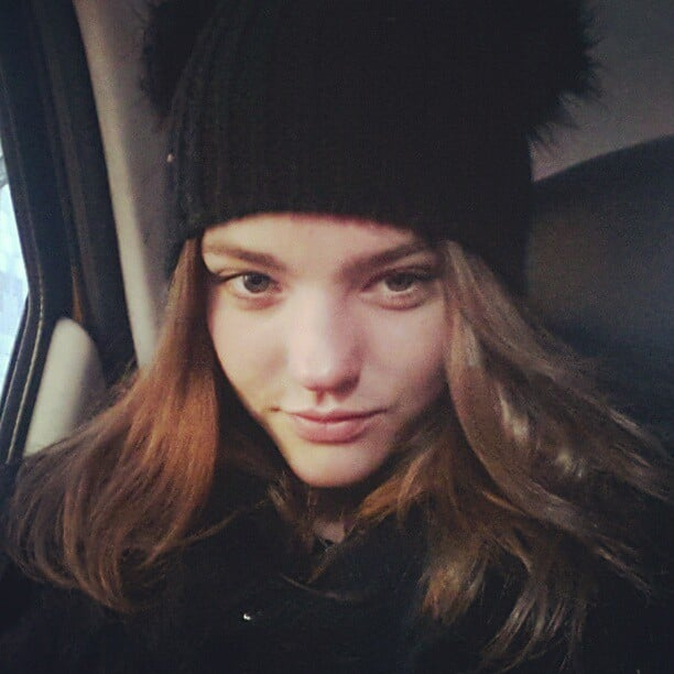 Montana Cox looked cute as a button, rugged up and cosy. Source: Instagram user montanacox1