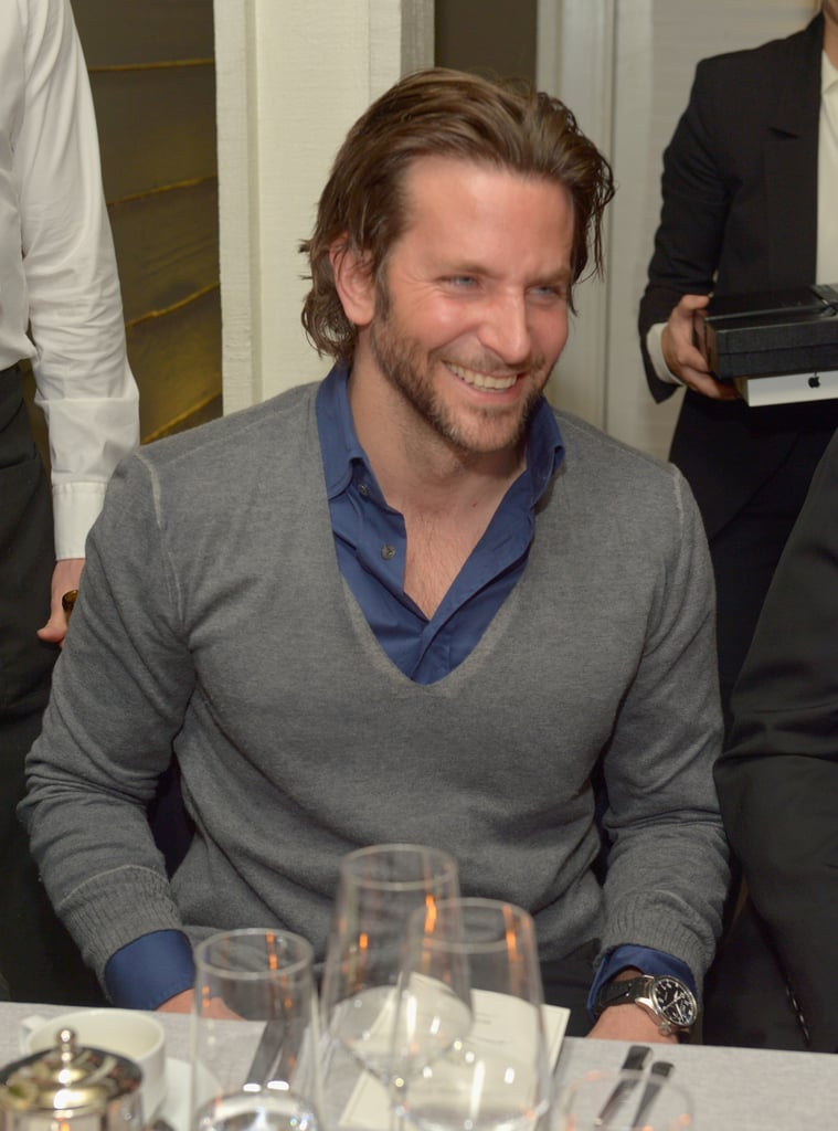 Bradley Cooper had a laugh at a Vanity Fair bash for Silver Linings Playbook in LA on Wednesday night.