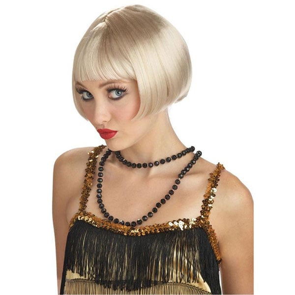 The bob was the hairstyle of choice for flappers in the 1920s and was popularized by Louise Brooks and Josephine Baker. Get the full Daisy Buchanan look with this Flirty Flapper Wig ($12).