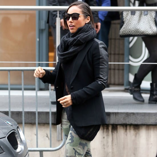 Alicia Keys Wearing Camouflage Jeans
