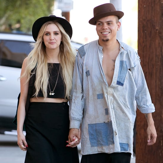 Ashlee Simpson's Houghton Wedding Crop Top