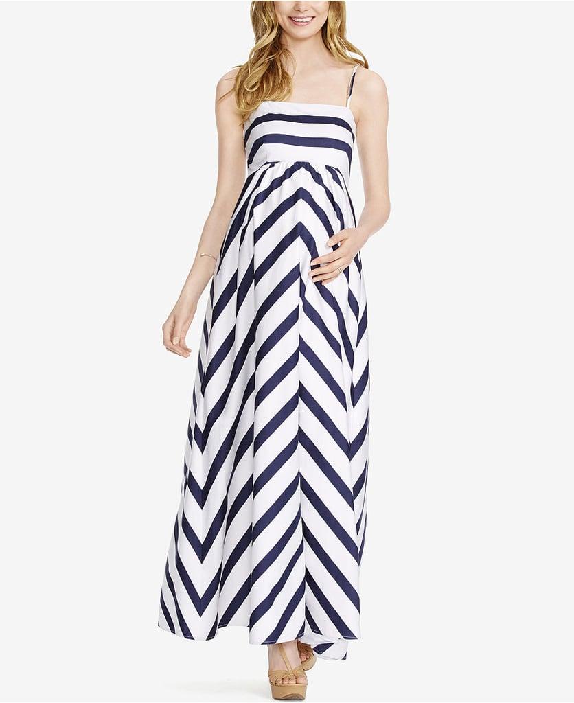 Jessica Simpson Maternity Striped Maxi Dress ($71, originally $89)