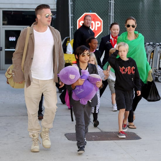 Angelina Jolie and Brad Pitt With Their Kids at LAX