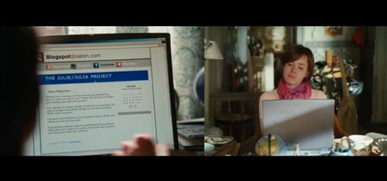 Julie and Julia Movie Trailer Shows Fake Blogging Platform