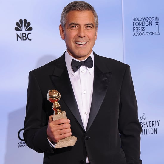 George Clooney Golden Globes Press Room (Video)