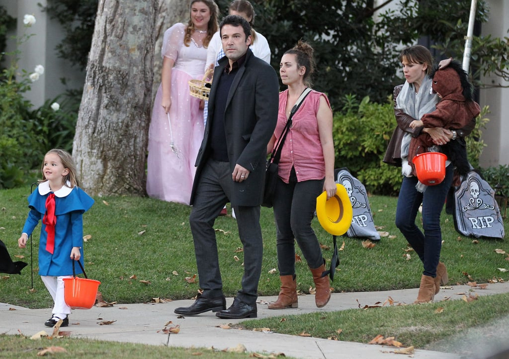 Ben Affleck and Jennifer Garner took their family trick-or-treating.