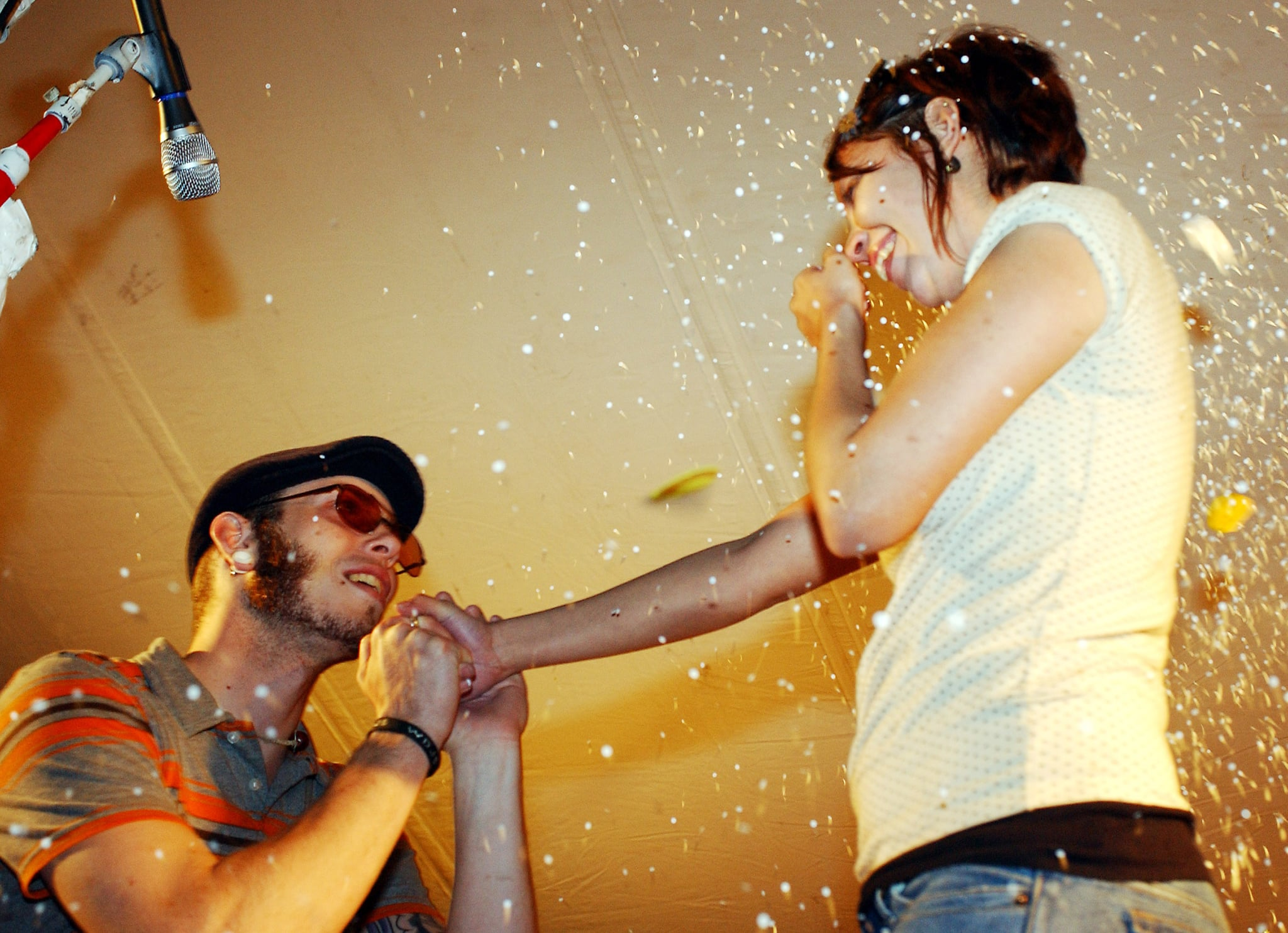A festivalgoer proposed to his girlfriend at the SXSW Film and Music Festival.