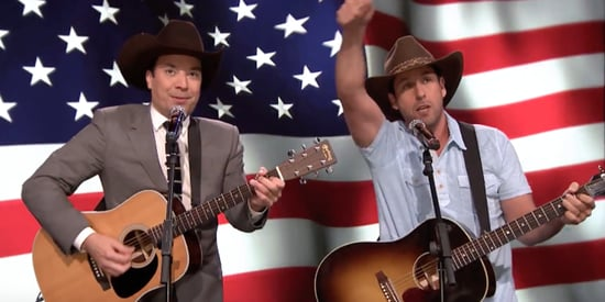 Adam Sandler & Jimmy Fallon Sing A Patriotic Parody For The Troops