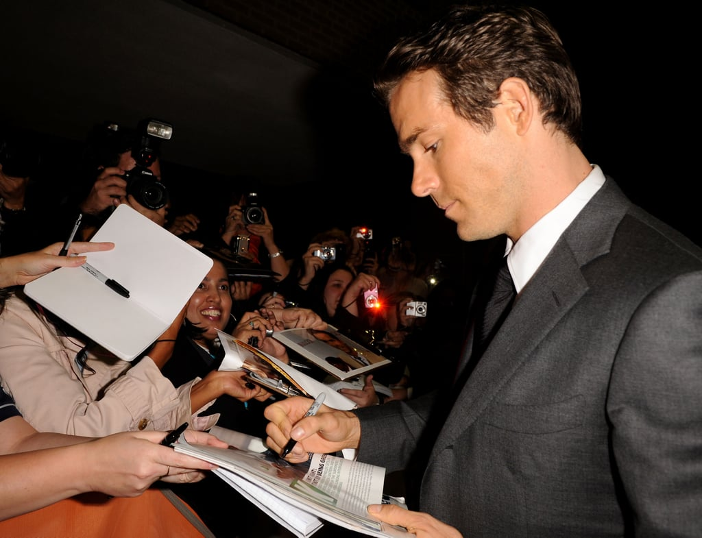 Pictures of Ryan Reynolds in Toronto