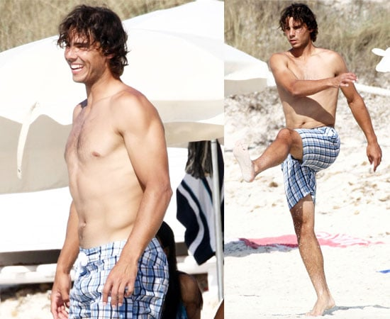 Pictures of Rafael Nadal Shirtless on Beach in Spain