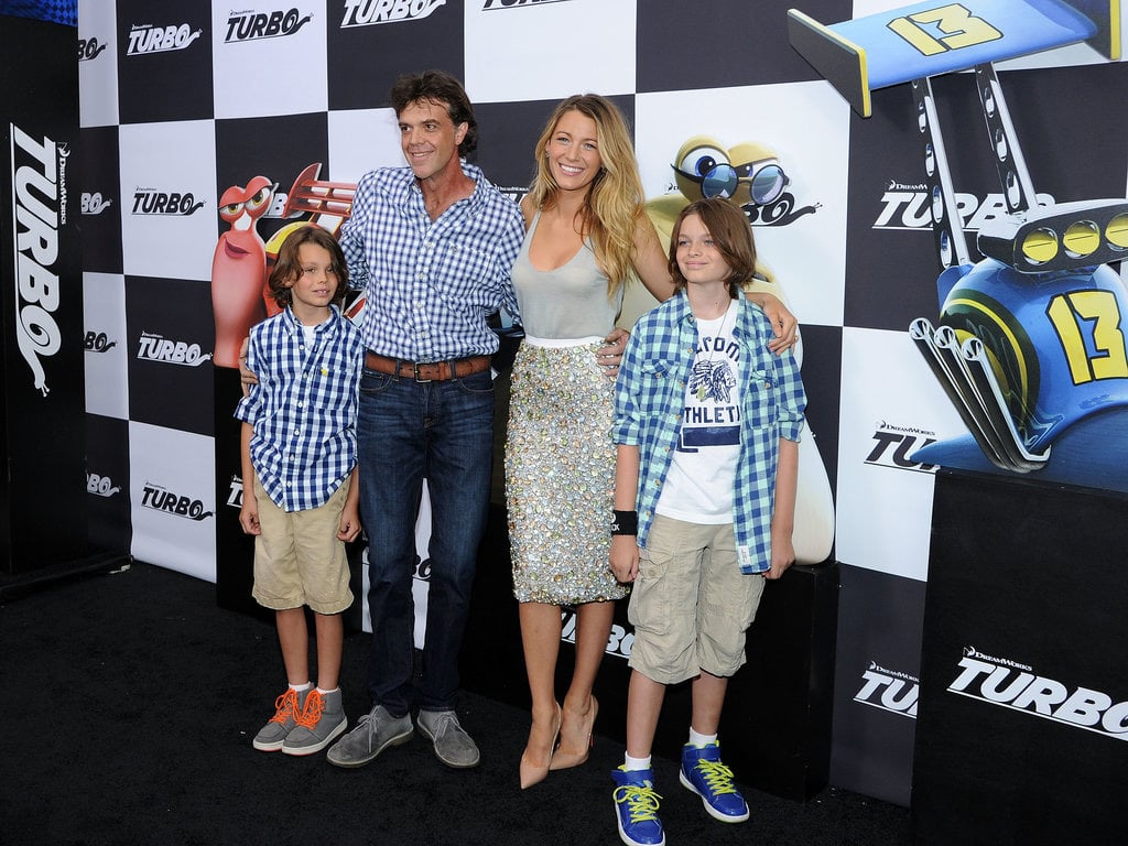 Blake Lively turned up the heat at hubby Ryan Reynolds' Turbo premiere in New York on July 9. She didn't walk the black carpet with Ryan, though — instead, she brought along her half-broher Jason and his two sons. Cute.